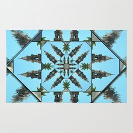 Clocks mandala Rug