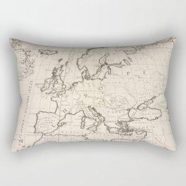 Vintage Map of Europe (1700) Rectangular Pillow