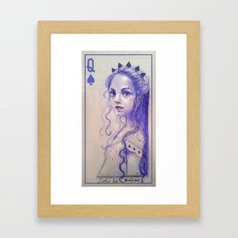 Queen of spades Framed Art Print