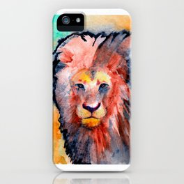 colorful lion iPhone Case