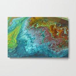 70's - Abstract Acrylic Pour Metal Print