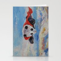 superheros Stationery Cards featuring Panda Superhero by Michael Creese