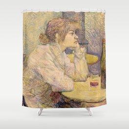 """Henri de Toulouse-Lautrec """"The Hangover (Suzanne Valadon)"""" Shower Curtain"""
