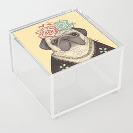 Frida Pug Kahlo Acrylic Box