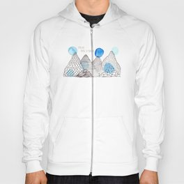 Flying high through the mountains Hoody