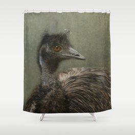 A happy Emu Shower Curtain