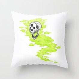 Lv. 24 Skeletal Wisp Throw Pillow
