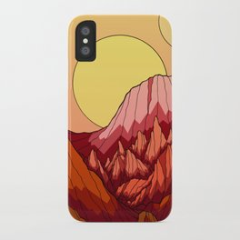 The Mountains of the red planet iPhone Case