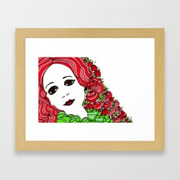 Lady Rouge Framed Art Print