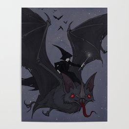 Drawlloween Bat Poster