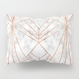 Art Deco Marble & Copper - Large Scale Pillow Sham