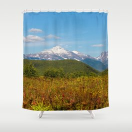 Fall and volcanoes Shower Curtain