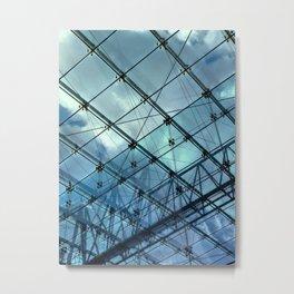 Glass Ceiling VI (Portrait) - Architectural Photography Metal Print