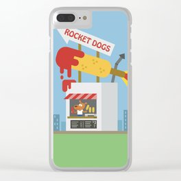 Snack Shacks #3 - Rocket Dogs Clear iPhone Case