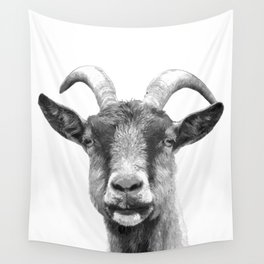 Black and White Goat Wall Tapestry