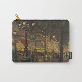 A Lovely Night in Paris, Portrait of Two women amid city lights painting by Konstantin Korovin Carry-All Pouch