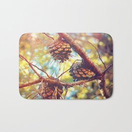Autumn pine cones  #photography Bath Mat