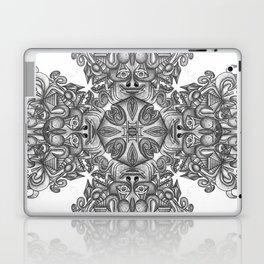black, white and gray  Laptop & iPad Skin