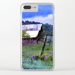 Purple Dames Rocket Ranch Saturated by CheyAnne Sexton Clear iPhone Case