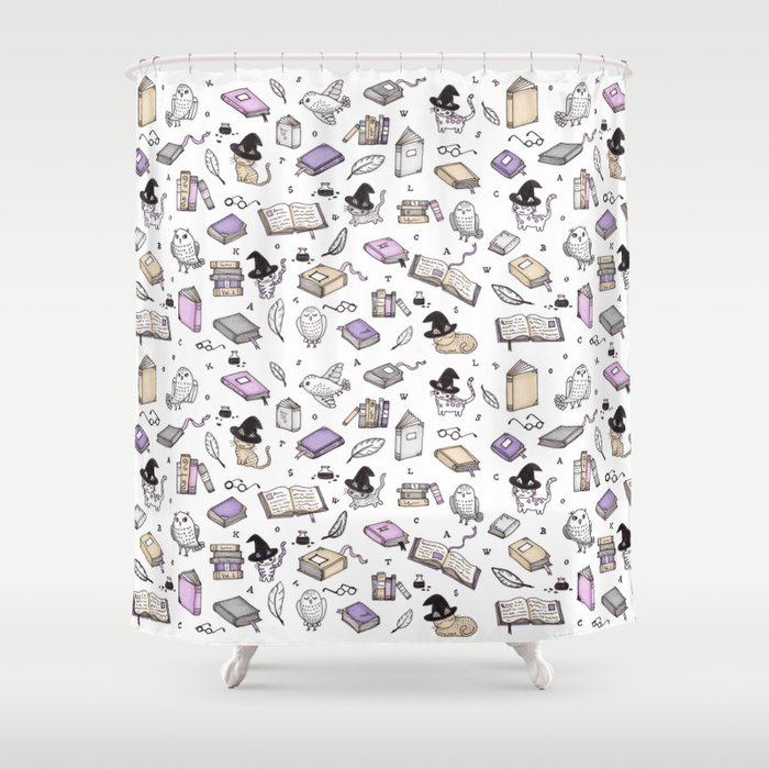 Wizard's Library Shower Curtain