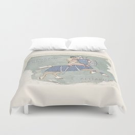Centaurus and Retiarius Duvet Cover