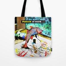 Pollock at Work Tote Bag