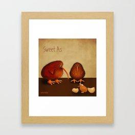 New arrival baby girl - sweet as Framed Art Print