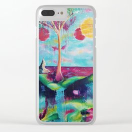 Three moons Clear iPhone Case