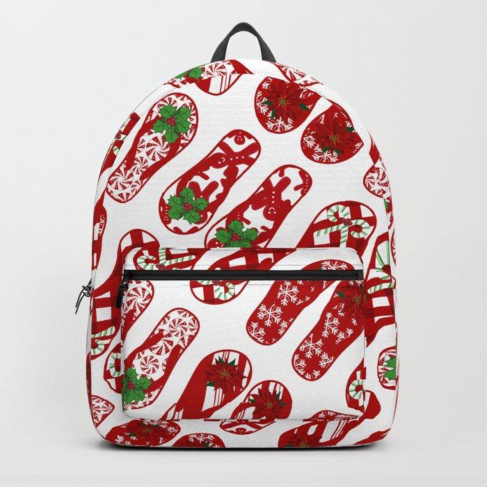 Cute Flip Flops Holiday Pattern Backpack