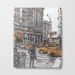 New York I Love You Metal Print