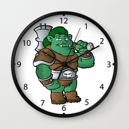 muscular orc in armor. Wall Clock