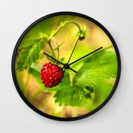 Wild strawberry Wall Clock
