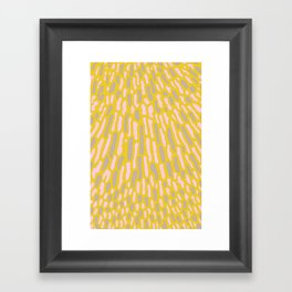 Organic Abstract Yellow Lime Framed Art Print