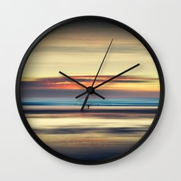 Along Memory Lines - Abstract Seascape Wall Clock