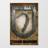 tomb raider Canvas Prints featuring Tomb Raider by Liquidsugar