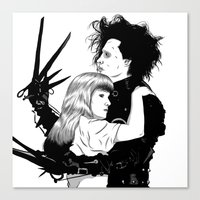 edward scissorhands Canvas Prints featuring Edward Scissorhands by Gregory Casares