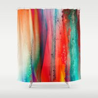ice Shower Curtains featuring Ice Curtain by Klara Acel