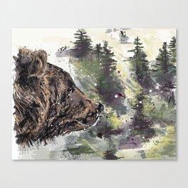 Boreal Bear Canvas Print