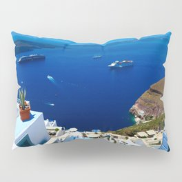 Santorini Caldera Pillow Sham