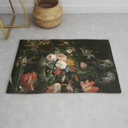 The Overturned Bouquet, Abraham Mignon, 1660 - 1679 Rug
