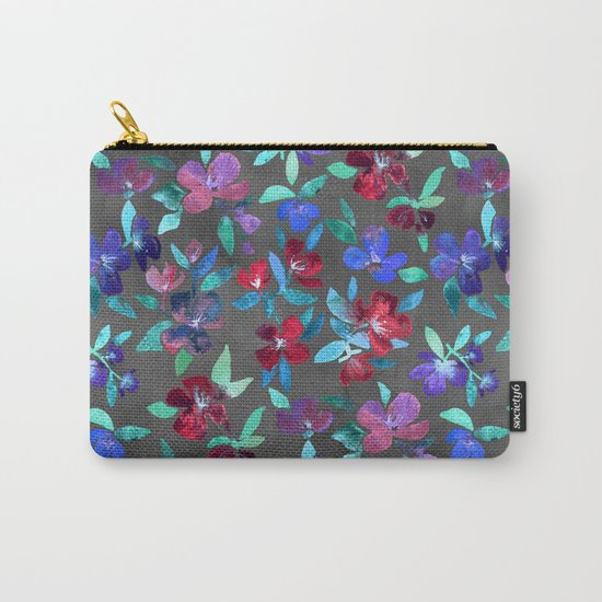 Blossoms in Cherry, Plum and Purple Carry-All Pouch