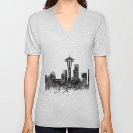 Seattle Skyline Unisex V-Neck
