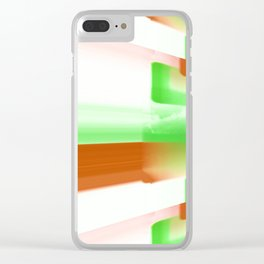 Green and Brown art Clear iPhone Case