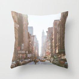 New York City Streets Throw Pillow