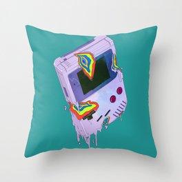 Gameboy Melt Throw Pillow