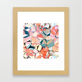 Jumble of Shapes And Colors Framed Art Print