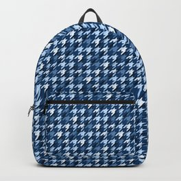 Glen plaid.Dark blue and white. Polyline cell. Backpack