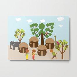 Village in Africa  Metal Print