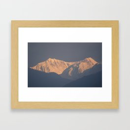 Kanchenjunga from Yoksum Framed Art Print
