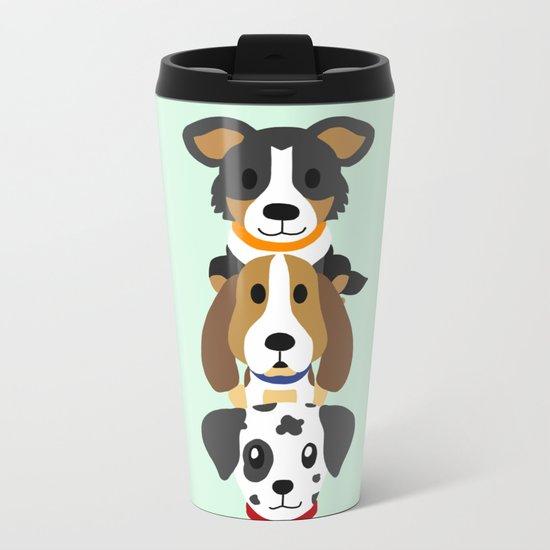 Too many dogs Metal Travel Mug